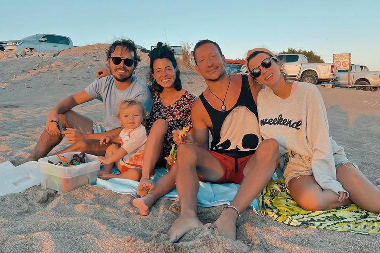 Vacaciones con amigos: Vázquez, Accardi y Rojas disfrutaron juntos la playa