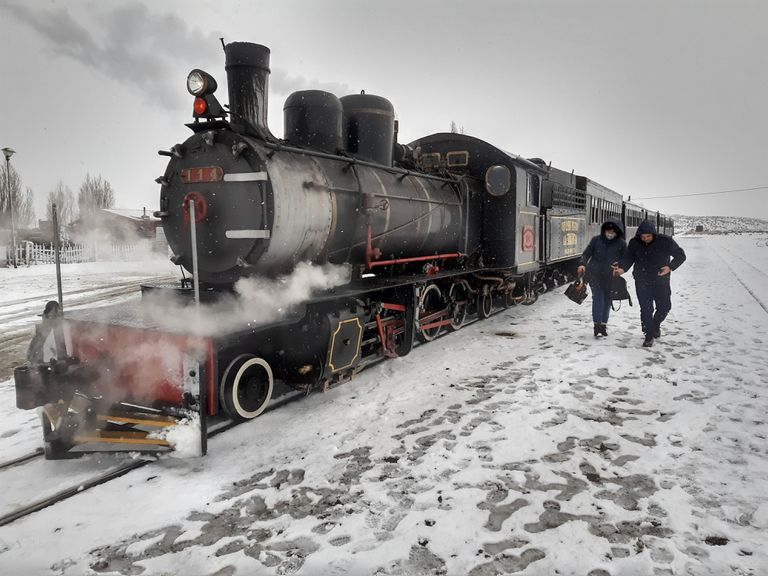 Llegó la nieve y los paisajes de Esquel se volvieron más cautivantes