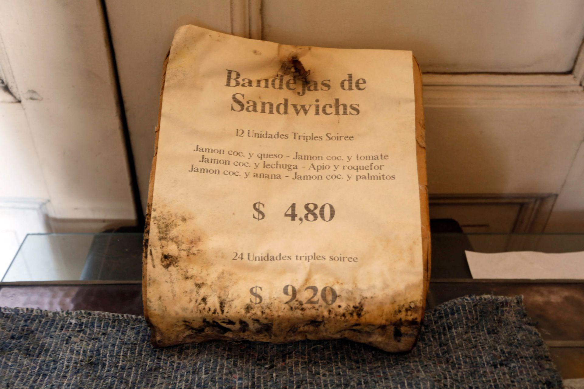 Un vieja lista de precios