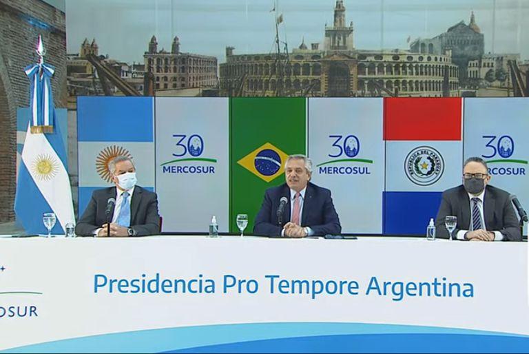 El presidente Alberto Fernández encabeza la Cumbre de Jefes de Estado del Mercosur