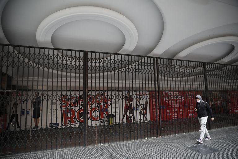 Teatro Ópera cerrado, como todas las las del país desde el 20 de marzo