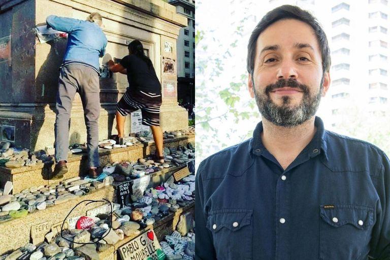 La bronca del chef Coco Carreño por la vandalización del memorial de Covid