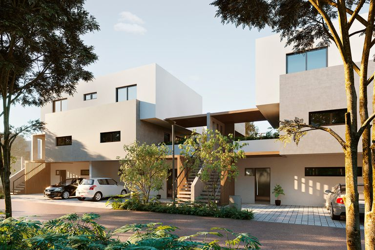 Este tipo de viviendas no requieren jardineros para estar impecables