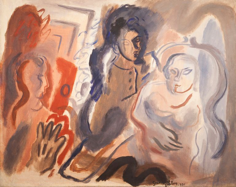 El hijo de la artista francesa y Curatella Manes encontró las pinturas de su madre guardadas en un armario; un afiche de la época