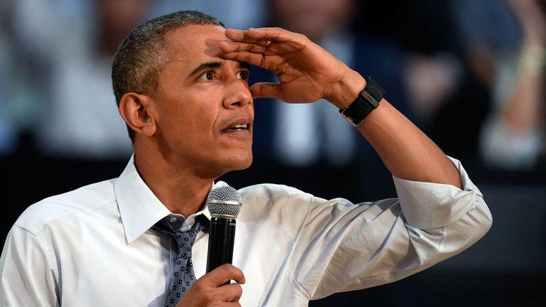 Obama durante la conferencia con jóvenes emprendedores en la Usina del Arte