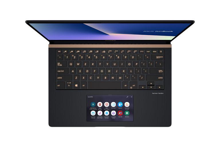 Una vista de la ScreenPad de la Asus ZenBook Pro 15