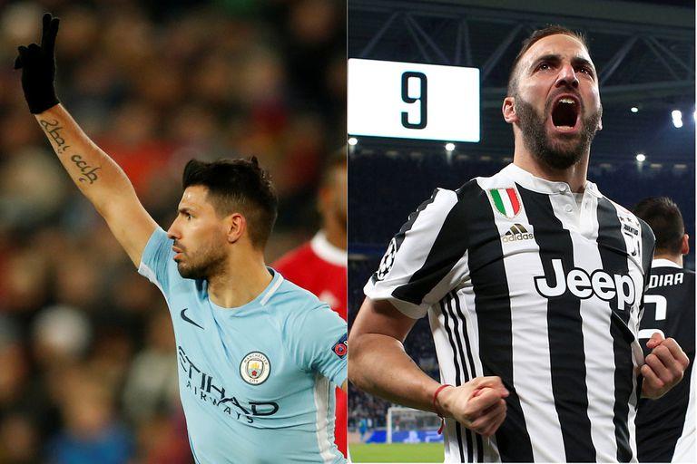 Implacables en Europa, Agüero e Higuaín luchan gol a gol por la 9 de Argentina
