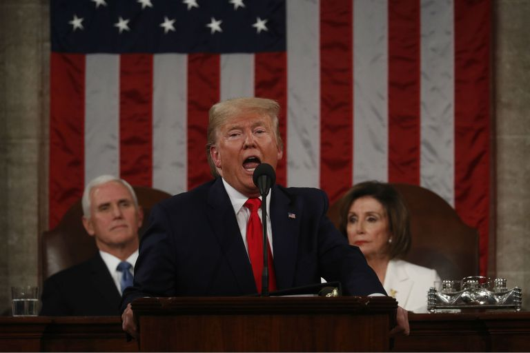 Trump, anoche, en el discurso del Estado de la Unión