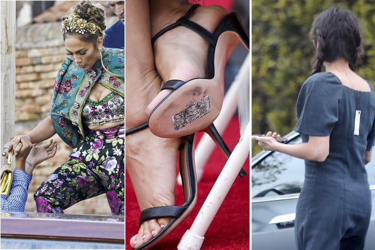 Glamour y ¡etiqueta puesta!: los descuidos de los famosos al vestir
