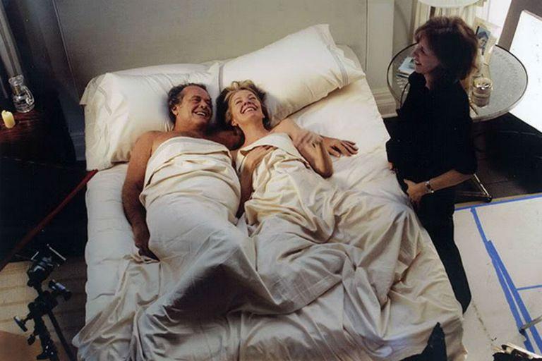 Jack Nicholson y Diane Keaton, dirigidos por Nancy Meyers en Alguien tiene que ceder