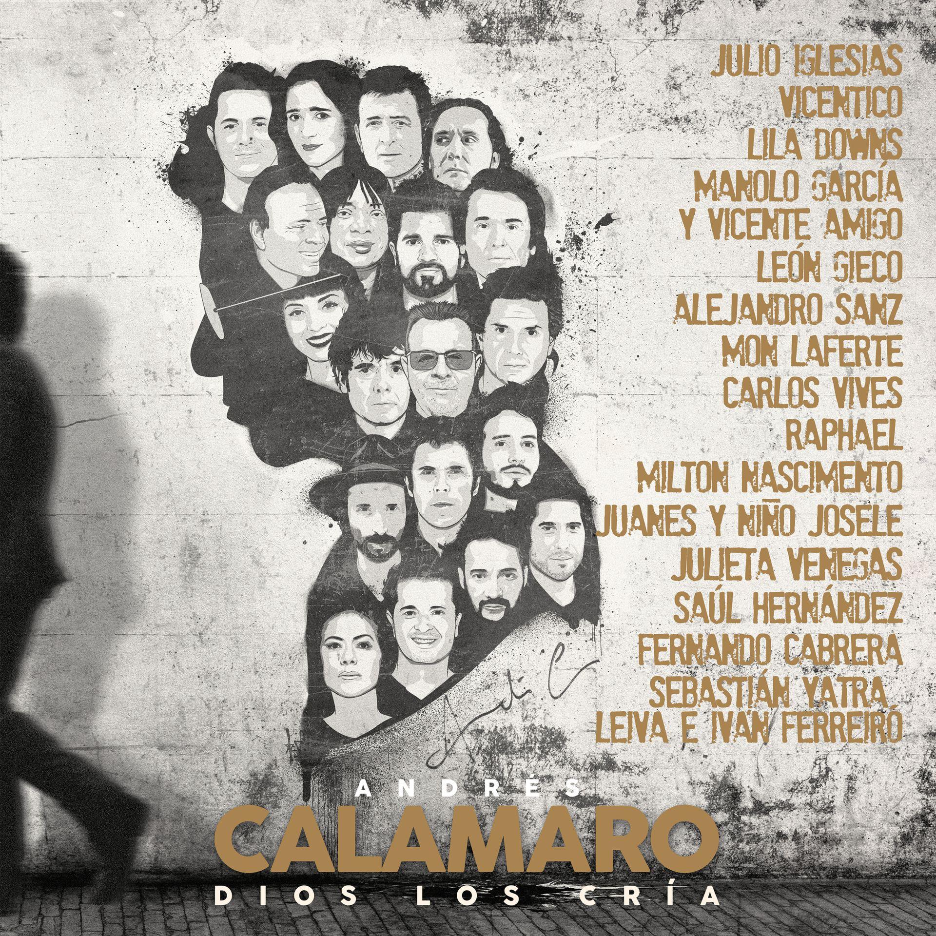 La tapa del nuevo disco de Andrés Calamaro, Dios los cría