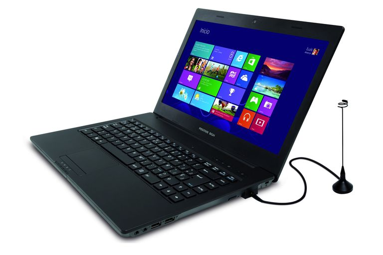 Hay notebooks con sintonizador de TV incorporado; también, conectores USB para ver la transmisión en cualquier PC