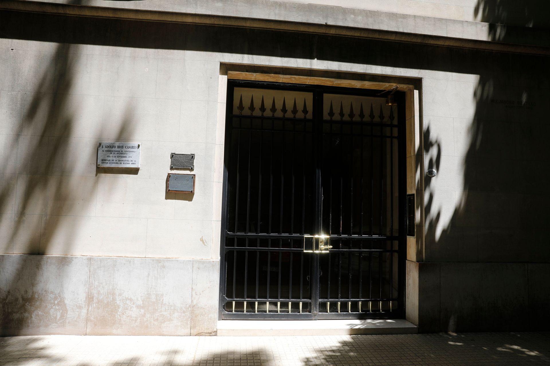 Fachada de la casa donde vivieron Bioy Casares y Silvina Ocampo