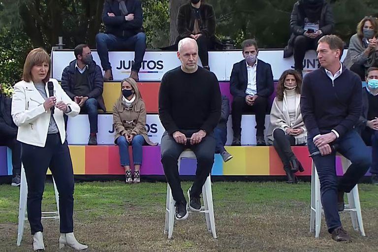 Patricia Bullrich fue una de las oradoras en el lanzamiento de La Plata