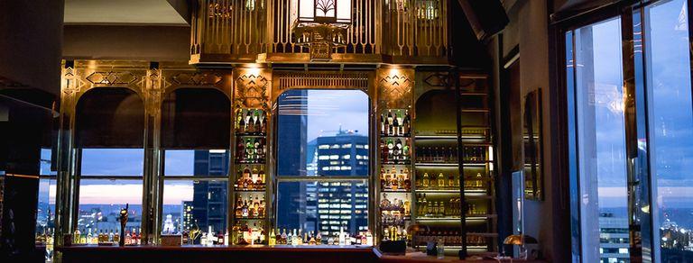 Trade, un bar en el piso 20, el cielo del edificio Comega