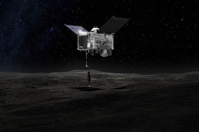 La sonda de la NASA descendió en el asteroide Bennu para recoger muestras y traerlas a la Tierra, usando un método que ha sido comparado con el uso de una aspiradora inversa
