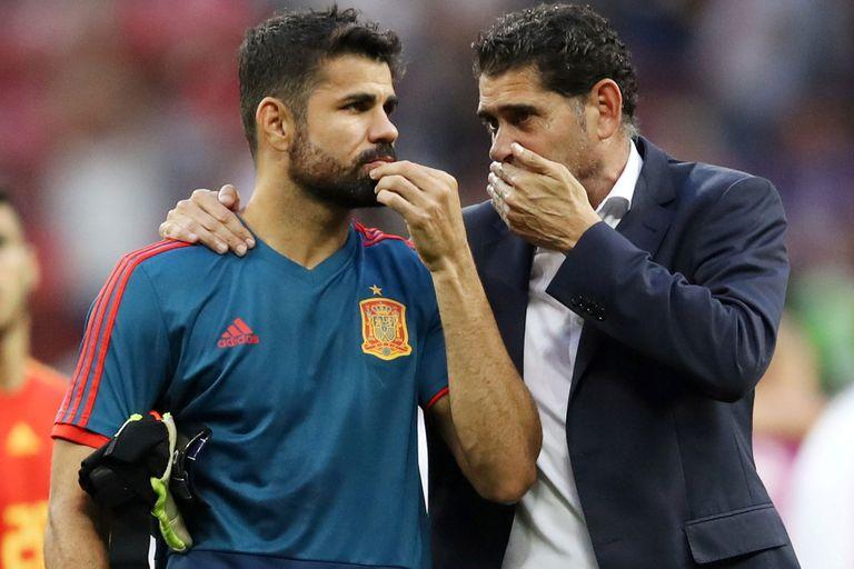 La charla entre Diego Costa y Fernando Hierro; el delantero le advirtió al técnico que uno de sus compañeros fallaría el penal