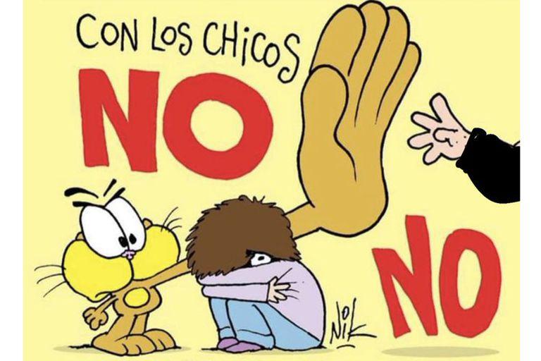 Nik realizó un dibujo para responderle a Aníbal Fernández