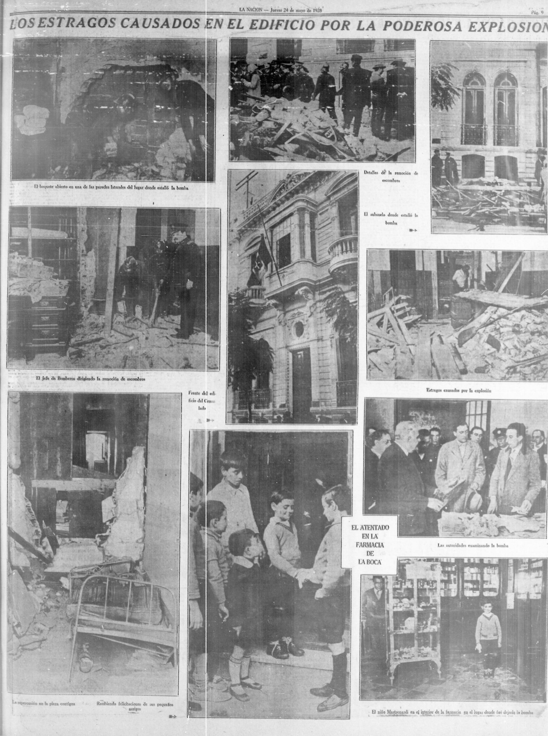 En agosto de 1928 se produjo el mas sangriento de los atentados perpetrados por Di Giovanni; murieron nueve personas en el consulado italiano