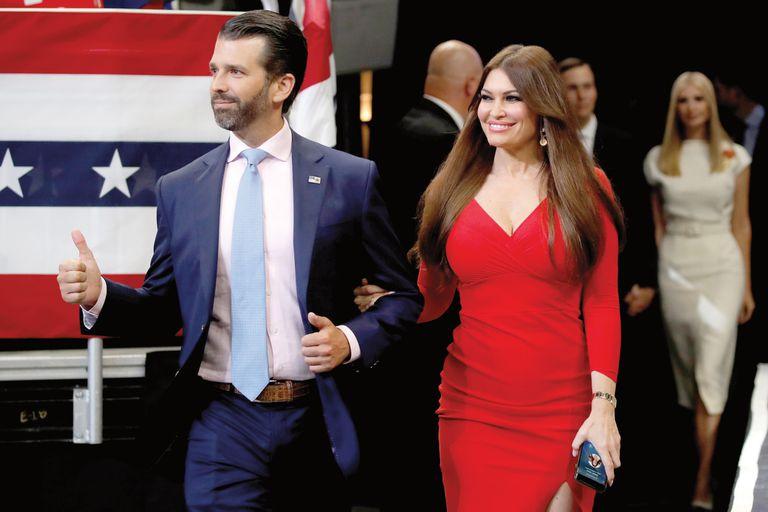 """Kimberly ya juega en política: se sumó de lleno a la campaña de su suegro, Donald Trump, que va por la reelección, y suele encabezar las reuniones llamadas """"Women for Trump"""""""