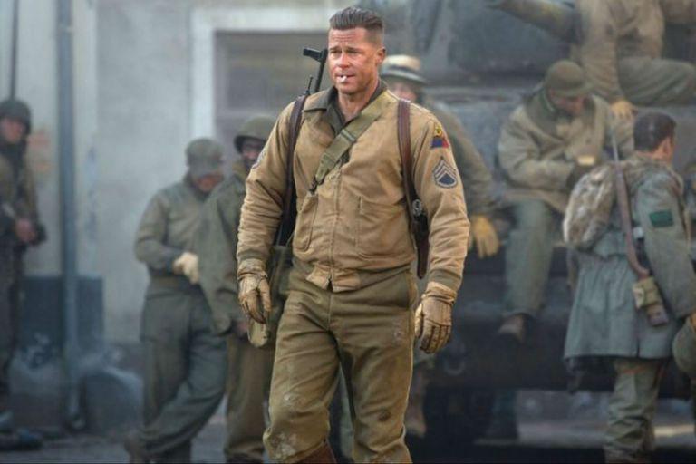 Brad Pitt en Corazones de hierro