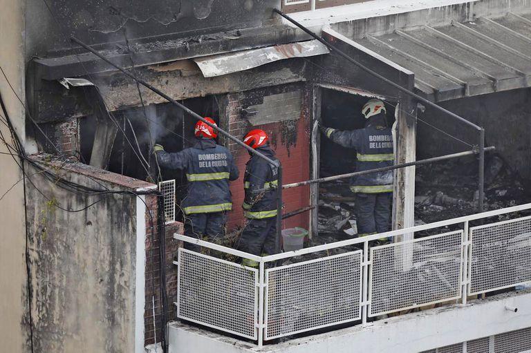 Incendio en un edificio de Palermo