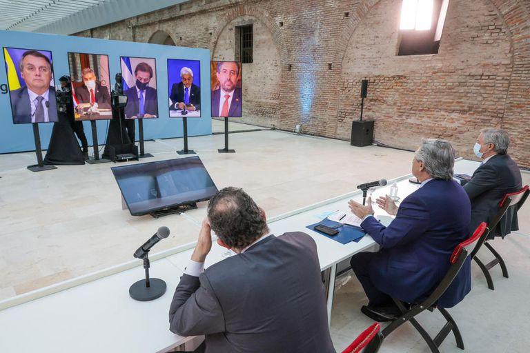 Alberto Fernández abrió la cumbre del Mercosur, con Felipe Solá y Matías Kulfas