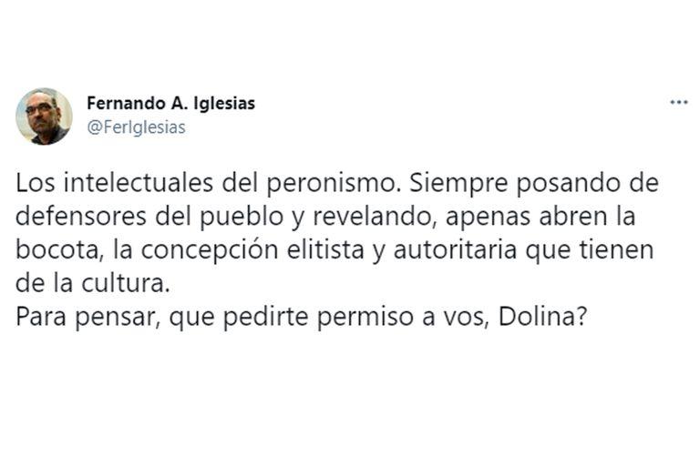 Fernando Iglesias criticó a Alejandro Dolina por sus declaraciones sobre la educación presencial