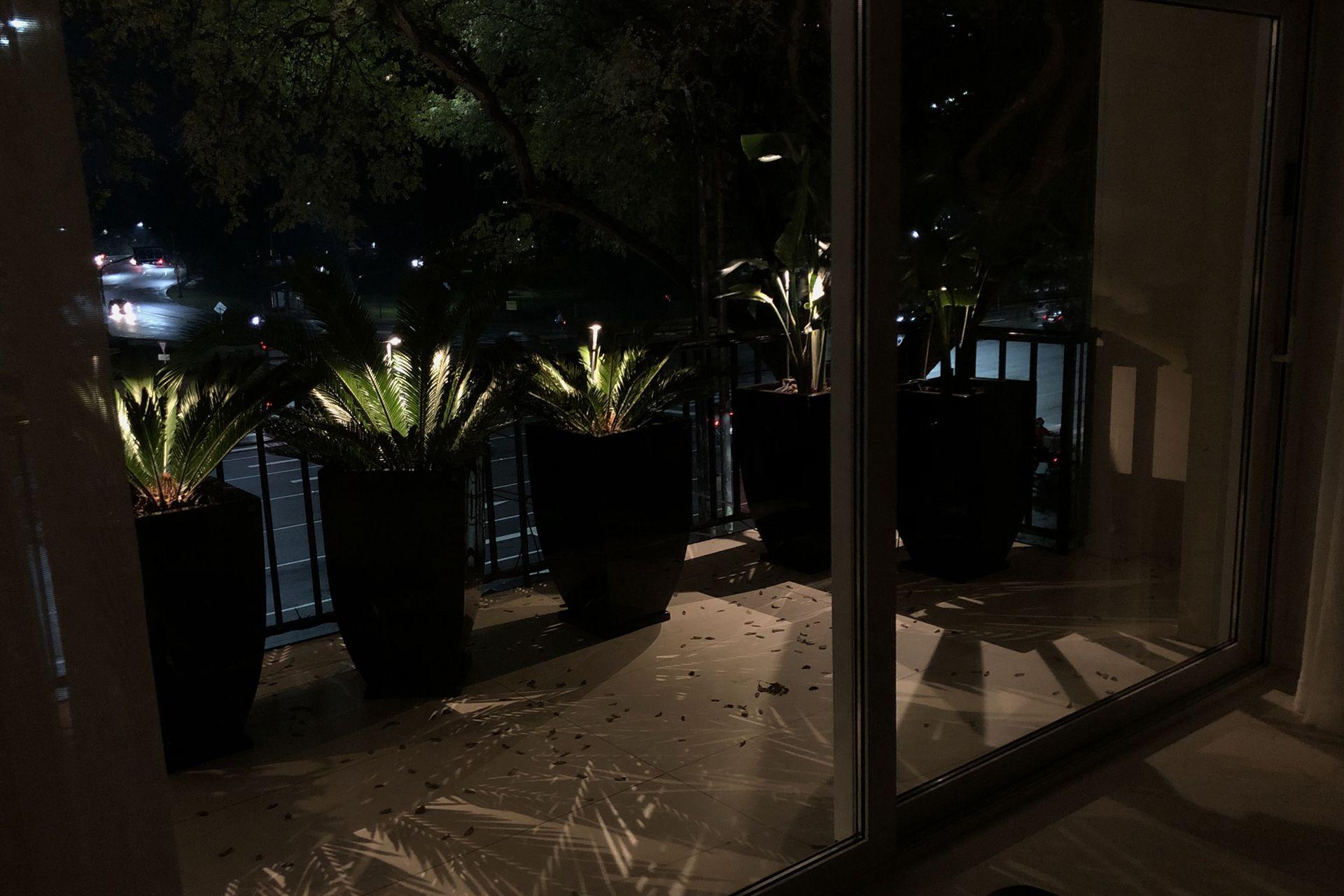 """La premisa es tratar de llegar a las macetas con luces auxiliares que les den belleza. """"Cuanto más ilumines las plantas, mejor te vas a sentir en el balcón"""", asegura. Rubén Amsel."""