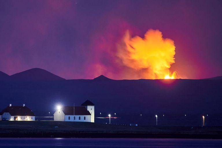 Esta foto tomada el 5 de mayo muestra el horizonte de la capital de Islandia, Reykjavik