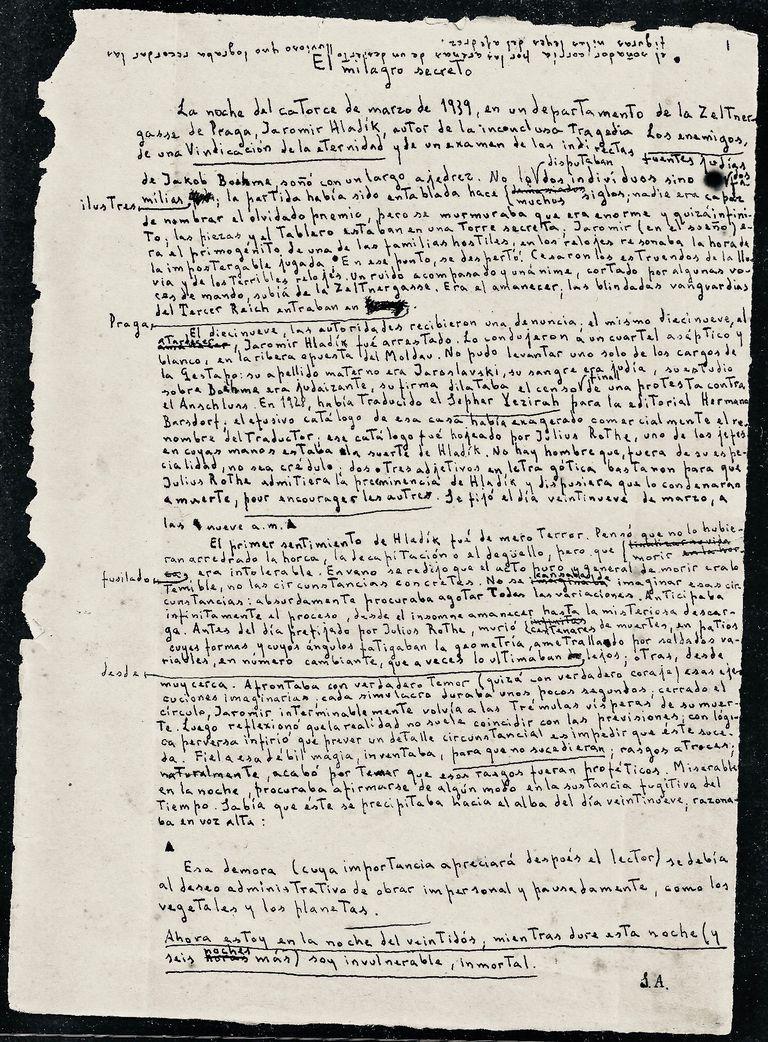 """El manuscrito de """"El milagro secreto"""" se podrá adquirir en la Feria del Libro Antiguo de California"""