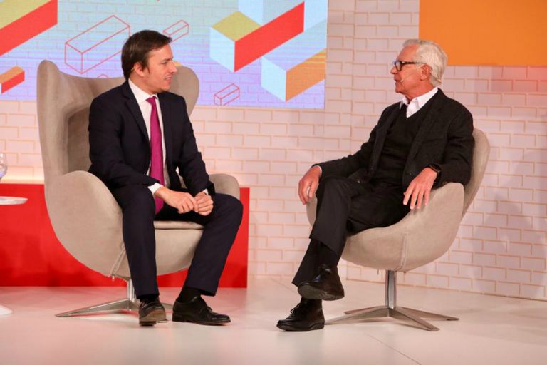 Costantini, en diálogo con José Del Rio, secretario general de Redacción de LA NACION