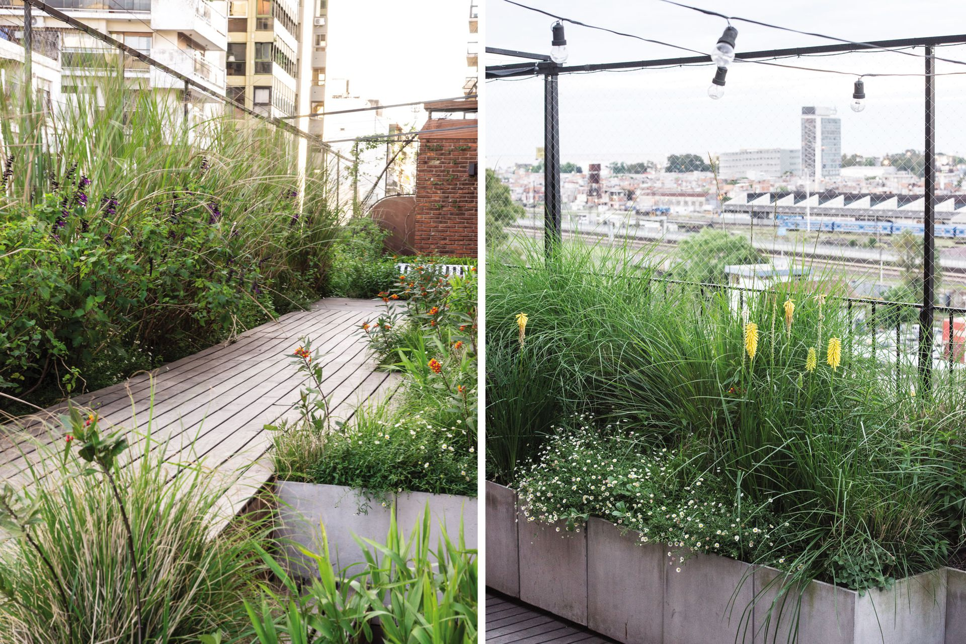 Un deck de lapacho y macetas contenedoras fueron dos de las incorporaciones que marcaron una diferencia en la reforma de la terraza.
