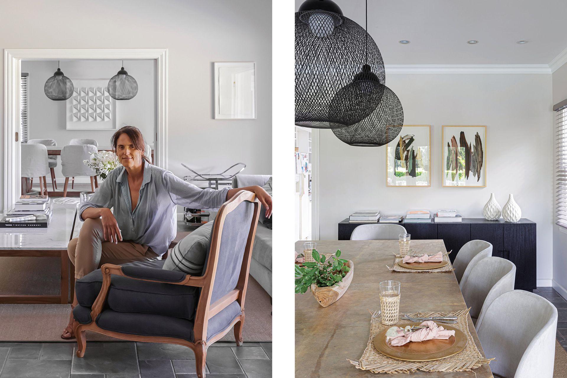 Joanne Cattarossi, diseñadora de interiores a cargo del proyecto de interiorismo. En el comedor, lámparas colgantes 'Non Random', de Bertjan Pot para la firma holandesa Moooi.