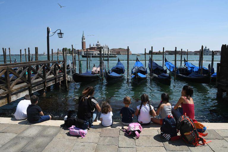 Los turistas vuelven a Venecia, tras cuatro meses de pandemia