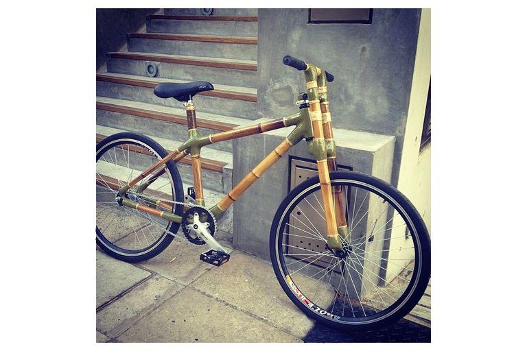 En Buenos Aires ya circulan las bicicletas con cuadros hechos de bambú