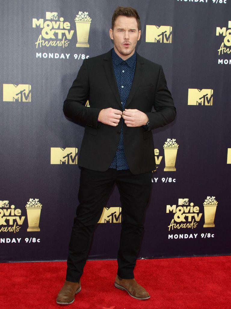 Chris Pratt, con un estilo casual para los galardones