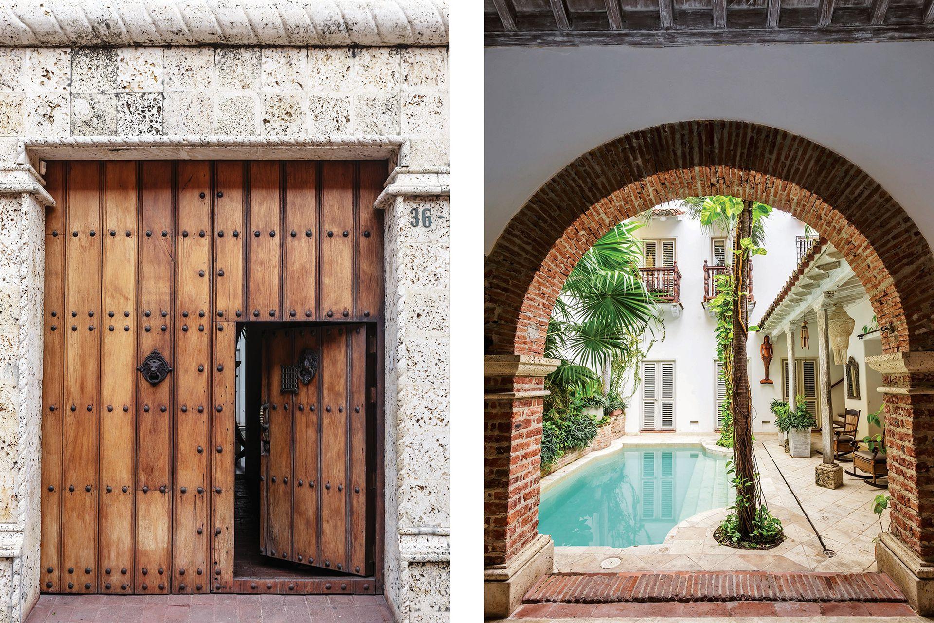Una puerta hacia la maravilla. Fue toda una sensación tener las llaves de este portón cartagenero.