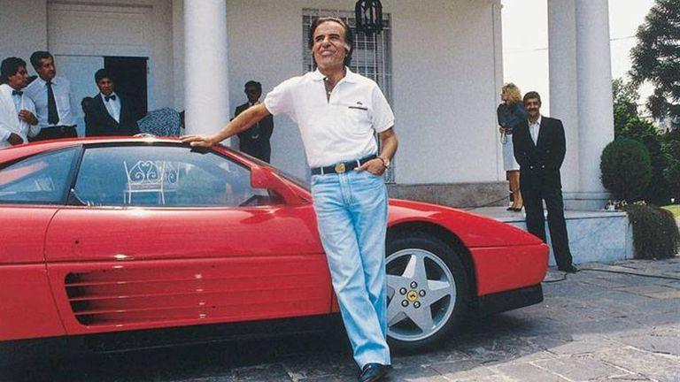 """Ferrari, pasión justicialista. La locura """"fierrera"""" que une a Juan Domingo Perón y Carlos Saúl Menem"""