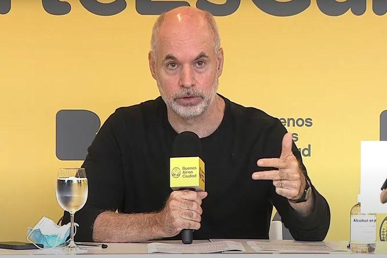 Horacio Rodríguez Larreta da detalles de la situación sanitaria y el Plan de Vacunación contra el COVID-19