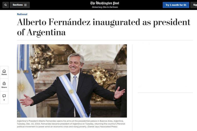 Asunción de Alberto Fernández: así cubrieron los diarios del mundo el traspaso