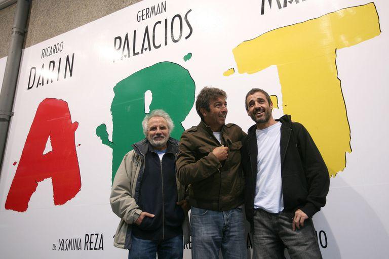 Jose Luis Mazza (en lugar de Oscar Martínez), Ricardo Darín y Germán Palacios, en una versión de 2007