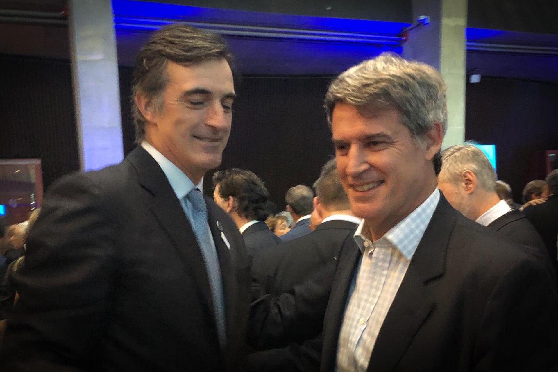 El senador Esteban Bullrich y elexministro de Hacienda, Alfonso Prat-Gay