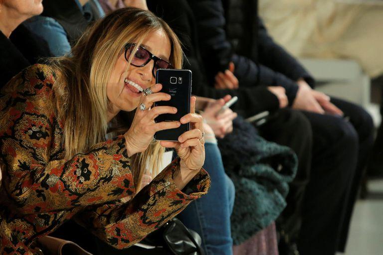 Sarah Jessica Parker en la primera fila de Calvin Klein