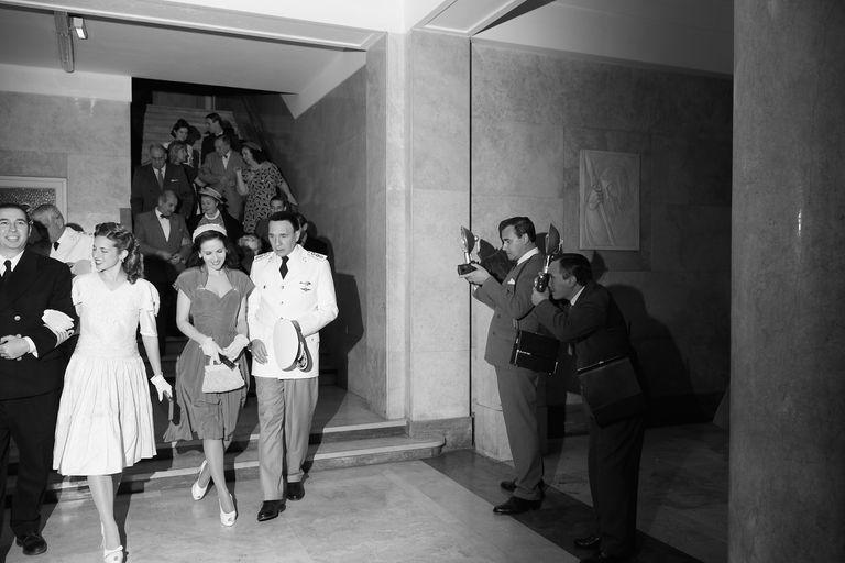 Oreiro y Grandinetti, como Evita y Perón, se escapan del Luna Park, en su primera cita