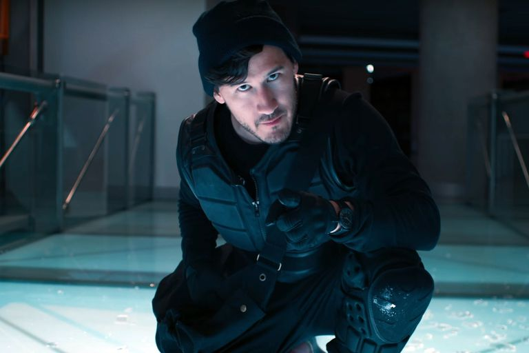 Un fotograma de la película interactiva A Heist with Markiplier, producida por YouTube