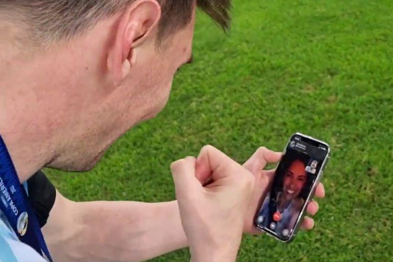Lionel Messi recuerda en un video su videollamada por WhatsApp con Antonela