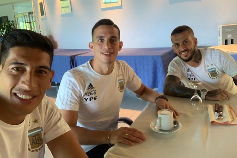 Andrada, Marcone y Benedetto juntos en Boca y en la Selección