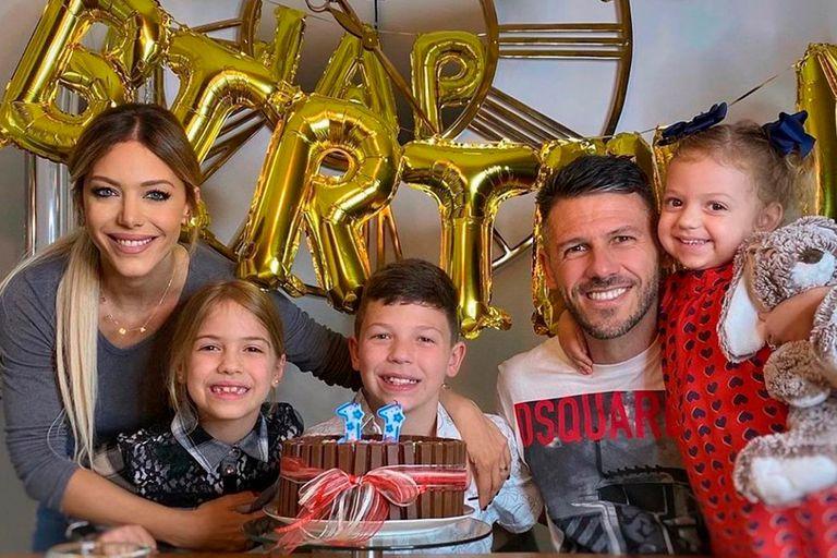 El festejo de cumpleaños que Evangelina Anderson le preparó a Martín Demichelis