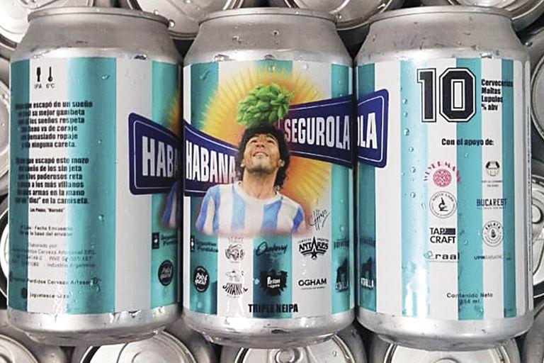 Una buena idea: probar la flamante Habana y Segurola, una Triple NEIPA nacida en homenaje a Diego Maradona.